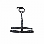 Leather Body Harness with Choker