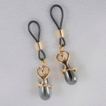 Desire Nipple Ring Jewelry Non-Piercing in Gold or Silver with Hematite Pendant