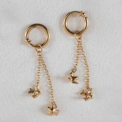 Birds of Flight Gold Hoops Labia Jewelry Rings