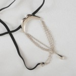 Men's Lips Kiss G String Penis Chain with Pendant in Silver or Gold