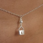 Waist Chain with Padlock in Gold or Silver