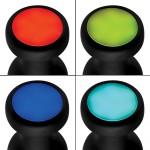 Silicone Vibrating LED Anal Plug