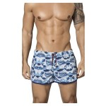 0651 No Concept Swim Trunks Color Blue
