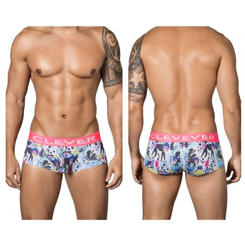 2342 Jungle City Latin Boxer Briefs Color White
