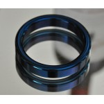 Cobalt Blue Stainless Steel Cock Ring