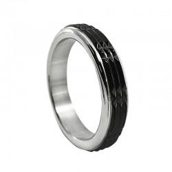Stainless Steel Black Raised Stud Cock Ring