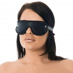 Premium Cushioned  Black Leather Blindfold