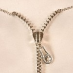 Silver Zipper Chain Nipple Necklace
