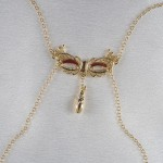 Love Mask Of Venice Non-Piercing Gold Nipple Necklace Breast Chain