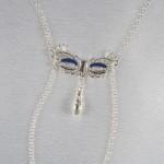 Love Mask Of Venice Non-Piercing Silver Nipple Necklace Breast Chain