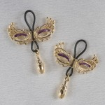 Love Masks of Venice Nipple Rings in Gold