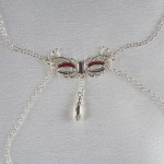 Love Mask Of Venice Non-Piercing Nipple Necklace Silver