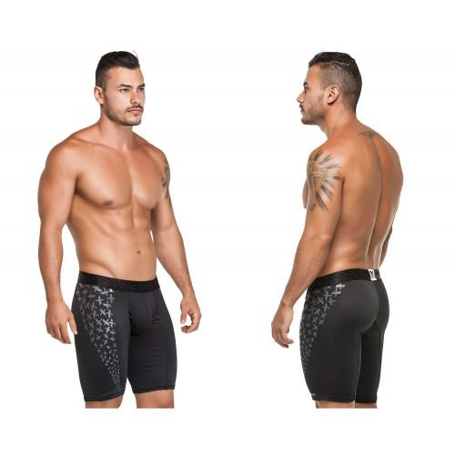 51393 Microfiber Sports Boxer Color Black