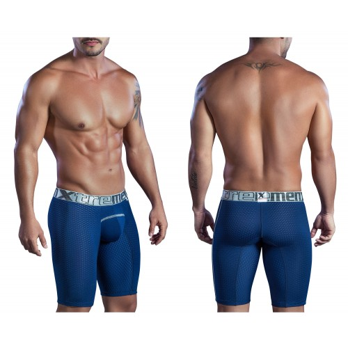 51403 Sports Microfiber Boxer Briefs Color Blue